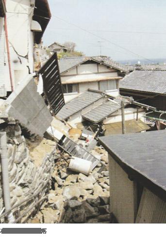 石積み擁壁の崩落