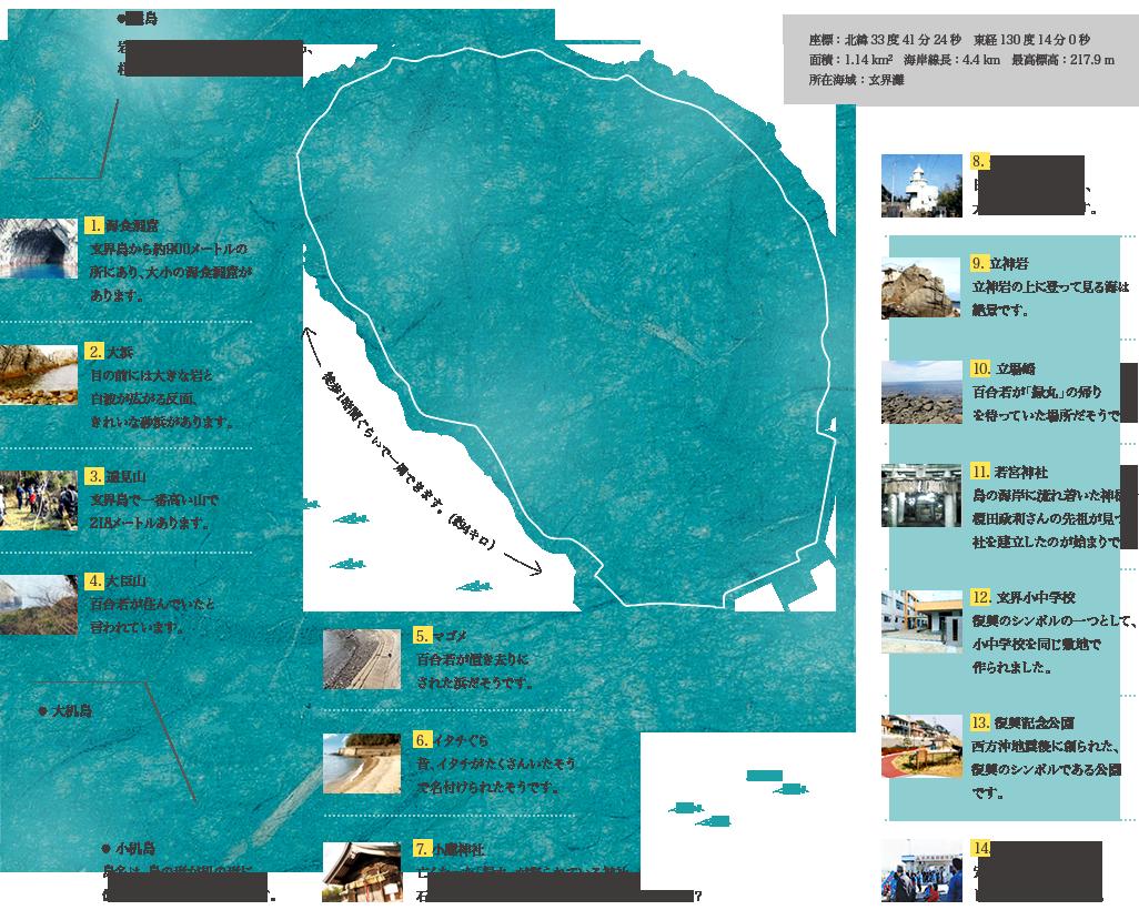玄界島マップ